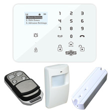 4G 3G GSM Alarm Systems Security Home system Kits Wireless App Remote Control with Touch Keypad Motion Sensor(Hong Kong)