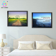 Modern Art Landscape With Words Beach Country Road Canvas Paintings Cheap Wall Decoration Pictures Home Decor Unique Gifts ZL049