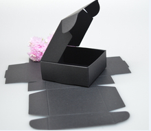 Jewelry Gift Boxes Black Retail Black Gift Package Boxes Craft Gift Handmade Soap Packaging black Paper Boxes(China)