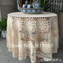 Free shipping beige and white 145cm round lace flowers table cloths for wedding decoration  table cover table runner towel mat