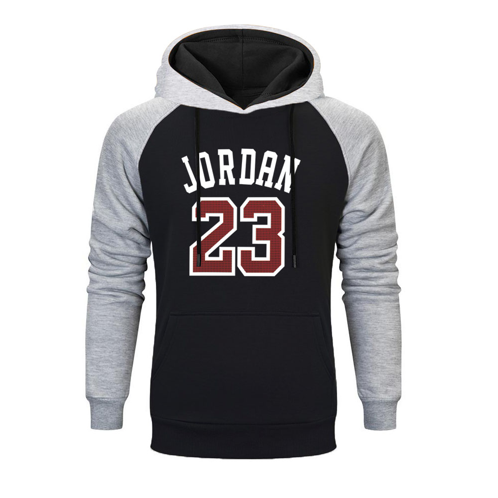 2019 Fashion Raglan Hoodies JORDAN 23 Letter Print Sweatshirt Hip Hop Men Sportswear Pullover Mens Tracksuit Sweatshirts Clothes