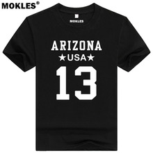 KURTIS EUGENE WARNER 13 arizona custom made name number t shirt iowa burlington t-shirt diy usa america black blue gray clothing(China)
