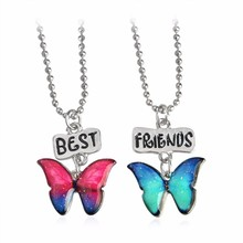 Flowers,Tortoise,Butterflies,Hippocampus & Starfish Pendant Necklace  Best Friend Set Necklace To Send Sisters The Best present