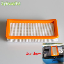3 pieces/lot Washable karcher filter for Karcher DS5500,DS6000,DS5600,DS5800 Robot Vacuum Cleaner Parts 6.414-631.0 HEPA Filters