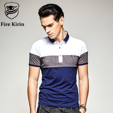 Fire Kirin Polo Shirt Men 2017 Famous Brand Slim Fit Polo Shirts Short Sleeve Men Summer Style Fashion Patchwork Polo Homme T18