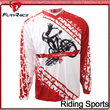 Brand Fury Race Bike MTB Downhill Jerseys Men White With Red Motocross Motorcycle T-Shirt Bicycle Cycling Jersey Roupa Clothing