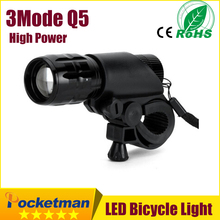 LED Bike Light Front Torch Waterproof + Torch Holder New Bicycle Light 7 Watt 2000 Lumens 3 Mode zk90