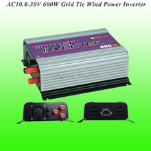 2017 Hot Selling 600W Three Phase AC10.8V~30V Input, AC 115V/230V Output Grid Tie Wind Power Inverter