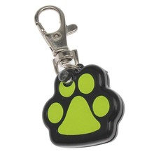 Useful Footprint Shape Pet Dog Safety Collar Pendent LED Light up Glow in the dark LS