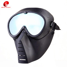 Anti-Fog Ventilated Paintball Masks Full Face Electric Fan Masks Gas With Goggle Outdoors CS War Game Hunting Airsoft Mask CY292(China)
