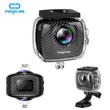 New Magicsee P3 Panorama VR Virtual Camera Video 360 Degree Sport Action Wifi for Facebook Multi-language Dual Lens Waterproof(China)