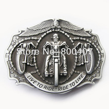 Distribute Vintage Original Live to Rider Motorcycle Ride Driver Biker Belt Buckle BUCKLE-AT067AS Free Shipping