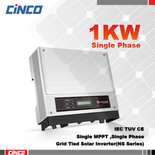 GW1000-NS On grid inverter 1kw 230v 50/60HZ,sell electric to grid of city ,connected 200w 250w solar panel for solsr system(China)