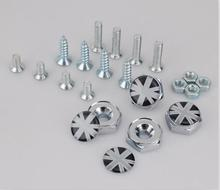10set/lot Auto Car License Plate Burglar Chrome Bolts Screws Car styling [More brand available]