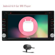 Android 6.0 Car Stereo Automotive Car DVD Player Autoradio Bluetooth support Wifi GPS Android 6.0 1080P+External Mic+Rear Camera