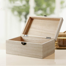 2pcs/lot Wholesale Newest Wood Jewelry Box  Art Decor Children Crafts Toys Kid Baby DIY Wooden Storage Boxes