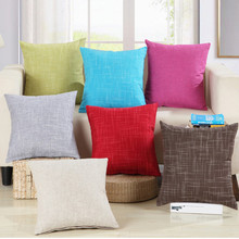 45CM*45CM Square Cotton Linen Cushion Cover Pillowcase For Car Livingroom Sofa 2016 Christmas Decorative Throw Pillow Cover
