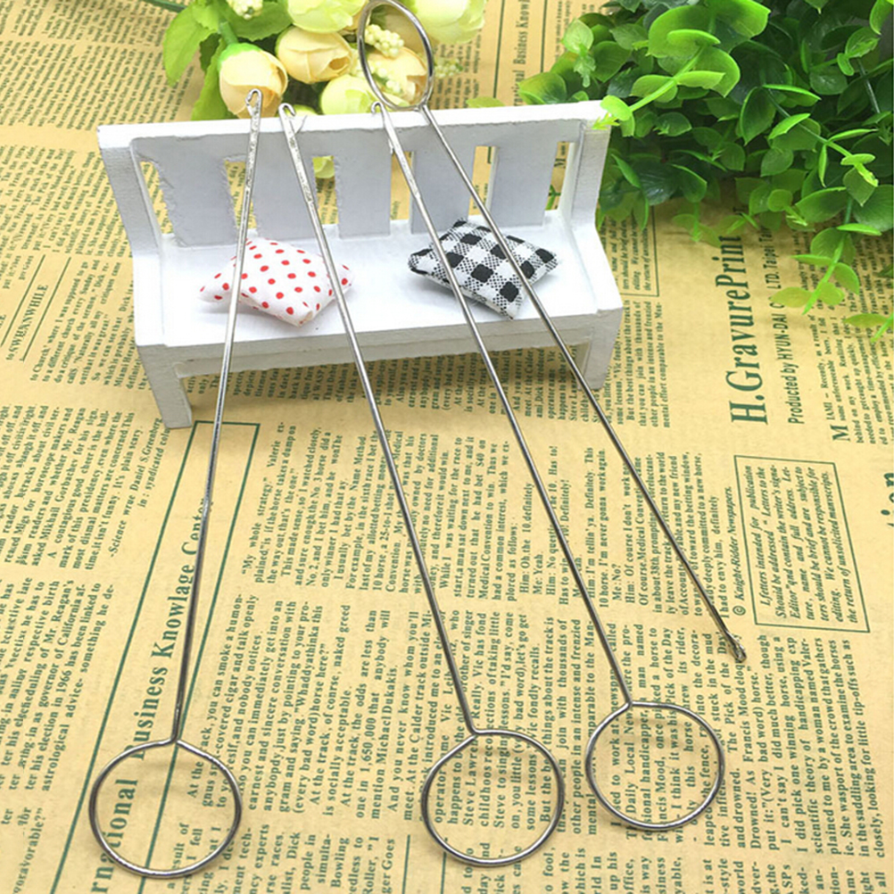 1Pc Durable Metal Sewing Loop Turner Hook With Latch For Turning Fabric Tubes Straps Belts Strips for Handmade Sewing Tools