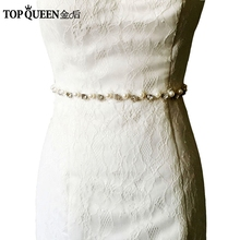 TOPQUEEN S71 Free shipping Wedding Belt Crystal Rhinestone Brighten Bridal Sash Wedding Dress Accessories