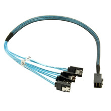 Internal Mini SAS SFF-8643 Host to 4 SATA 7pin Target Hard Disk 6Gbps Data Server Raid Cable 50cm(China)