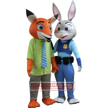 2016 New Zootopia Nick Wilde Clothing And Hopps Mascot Judy Cartoon Mascot Costum