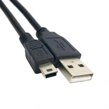 1.5M 5ft USB 2.0 Male to Mini B 5pin Male Hard Disk Camera Cable with Ferrite core(China)