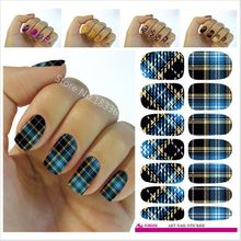 2017 Hot Sale Manicure New Fashion Water Transfer Foil Nail Stickers All Kinds Of Art Design Patterns Decorative Decal V602