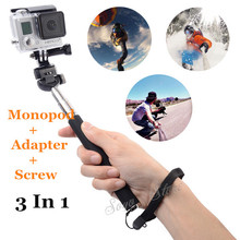 Gopro Accessories Extendable Handheld Aluminum Alloy Flexible Telescopic Monopod Tripod Holder for Go Pro HD Hero1 2 3 Carmera(China)