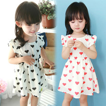 Kids Dresses For Girls Elsa Dress 2017 New European Style Summer Girls Wear Short Sleeved Girl Love Baby Dress Princess Tide