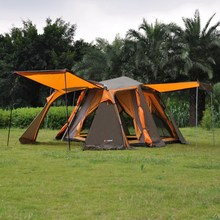 Alltel double layer 4 outdoor products aluminum rod automatic tent big space camping tent(China)