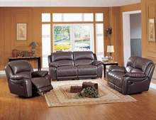 living room sofa Recliner Sofa, cow Genuine Leather Recliner Sofa, Cinema Leather Recliner Sofa 1+2+3 seater for home furniture(China)