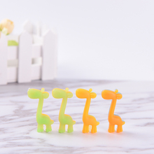 Novelty Cute Giraffe Luminous Rubber Eraser 2 Pcs/lot Kawaii Creative Stationery School Supplies Papelaria Gifts For Kids(China)