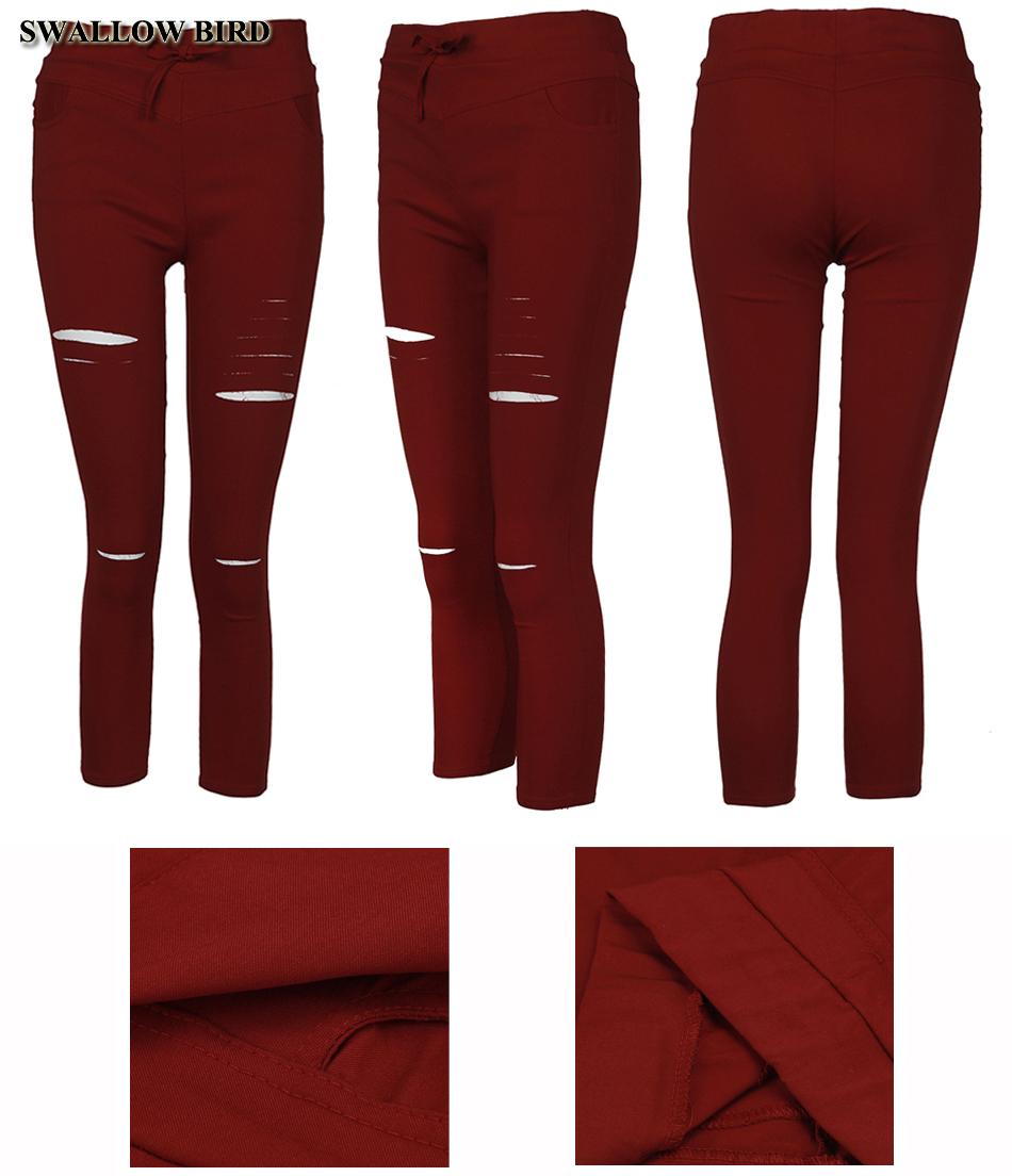 Women's Hollow Solid Cotton Leggings 20