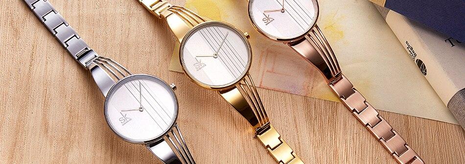 ساعة اليد سوار كوارتز  مطلية بالذهب 24