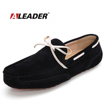 Buy Casual Mens Leather Loafers Shoes Summer Suede Leather Shoes Loafers Man Flats Moccasins Mens Shoes Slip Driving Shoes for $28.19 in AliExpress store