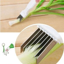 1PCS Mini Stainless Steel Shredded Green Onion Cutting Tools Food Processor Slicer Kitchen Vegetable Tool(China)