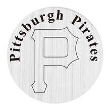 20 Pcs 316L Stainless Steel Plate Pittsburgh Pirates Locket Plate Fit For 30mm Living Floating Glass Memory Locket(China)