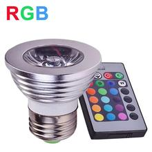 E27 RGB LED Spotlight 4W LED Lamp 85-265V LED RGB Light Bulb High Power 16 Color Change Home Decoration IR Remote Controller(China)