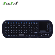 wholesale 10pcs USB Wireless Mini Keyboard Bluetooth air mouse with sensitive touchpad QWERT Keyboard For Google TV/mini pc(China)