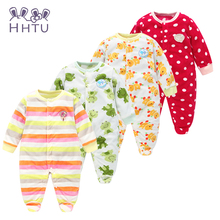 HHTU Autumn/Winter Baby Rompers clothes long sleeved coveralls for newborns Boy Girl Polar Fleece baby Clothing