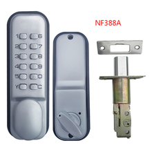 mechanical door locks Keyless Digital Machinery Code Keypad Password Entry Door Lock Zinc Alloy Silver 1721(China)