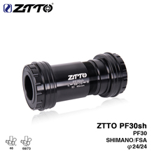 Buy ZTTO PF30sh PF30 24 Adapter bicycle Press Fit Bottom Brackets Axle MTB Road bike Shimano Prowheel 24mm Crankset chainset for $24.98 in AliExpress store