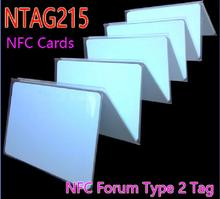 100pcs NFC NTAG215 Cards 13.56 MHz ISO14443A RFID Tags Smart Cards NFC Forum Type 2 Tag For Amiibo All NFC Phone