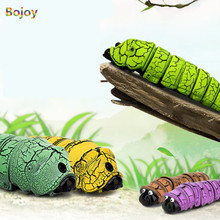 Remote Control Bionic Worm Gags Practical Jokes Funny Gadgets Plastic Bromas Toys Magic Bug For Children Fun Toy boy New Arrival(China)