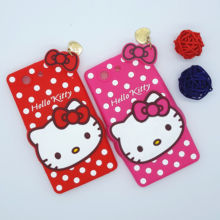 New 3D Cartoon Hello Kitty Case Soft Silicon Back Cover for Sony Xperia Z3 Compact Z3Mini Z3 mini D5803 D5833 M55W Rubber Shell