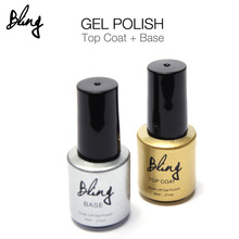FOCALLURE Bling Top Coat and Base Coat Long-lasting Gel Nail Polish UV Gel Polish(China)