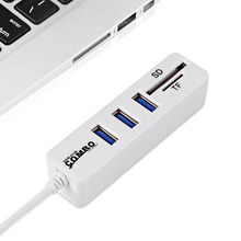 Mini USB Hub 2.0 Multi USB Combo 3 Ports + Card Reader Portable Hub Splitter All In One For SD/TF For Laptop PC Accessories