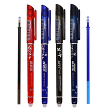 Erasable Gel Pen 0.5mm Nib Red Blue Dark Blue Black Refills Optional Student School Office Stationery High-grade Brand Gift Pen