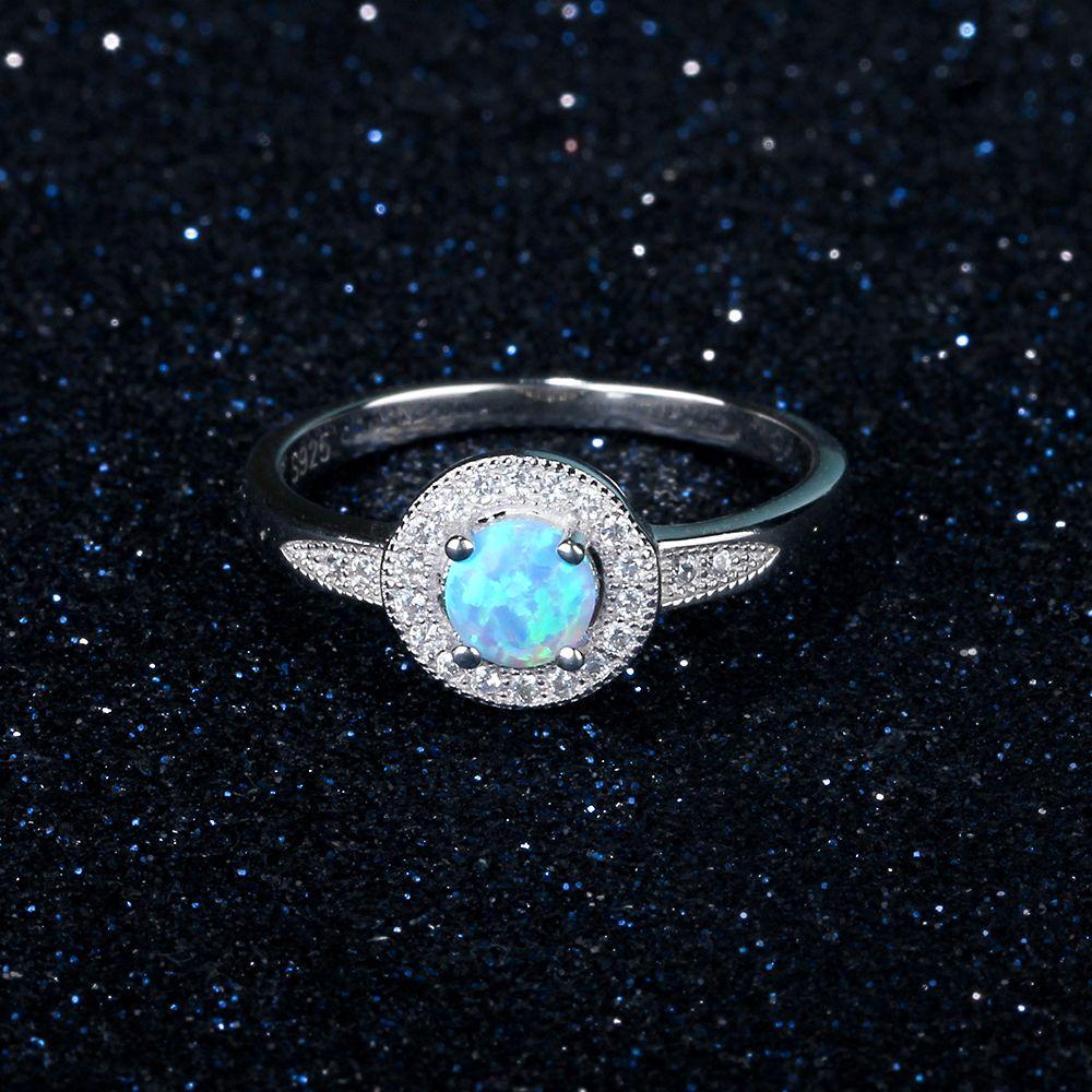 خاتم فضة بحجر جميل 4