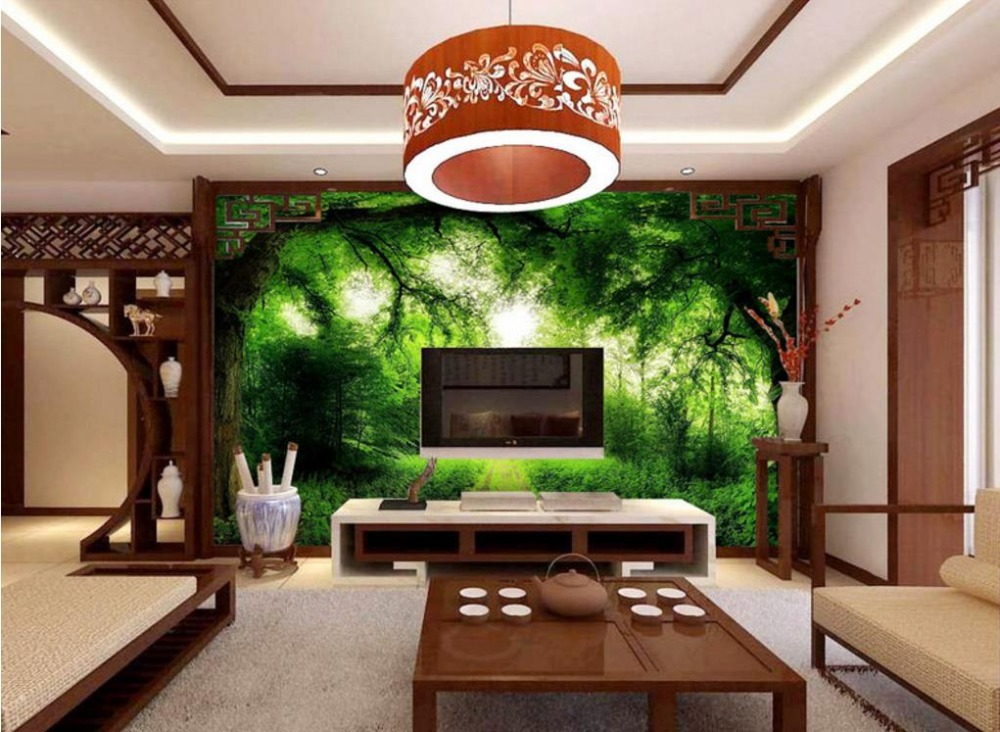 3d Stereoscopic Wallpaper Landscape Painting Custom hd wall paper kitchen Living room Bedroom tiles Wallpaper Murals<br>
